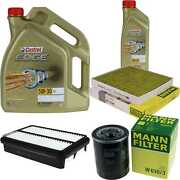 Inspection Kit Filter Castrol 6l Oil 5w30 For Mitsubishi Outlander Iii Gg _w