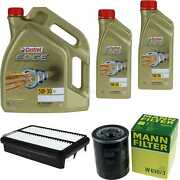 Inspection Kit Filter Castrol 7l Oil 5w30 For Mitsubishi Outlander Iii Gg _ With