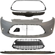 Set Bumper Front Primed Incl. Accessories For Ford Fiesta 6 Cb1 Year
