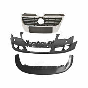 Set Bumper Front + Grill + Accessories Vw Passat 3c B6 Year 05-11 For Pdc Sra