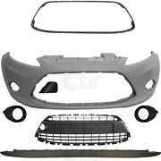 Set Bumper Front Primed+fog + Accessories For Ford Fiesta 6 Cb1 Year