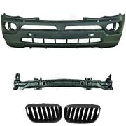 Set Kit Bumper Front + Carrier+ Grill For Bmw X5 E53 Built 03-07 Only