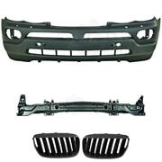 Set Kit Bumper Front + Carrier+ Grill For Bmw X5 E53 Bj. 03-07 Only
