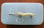 Vintage Estate Sale Find Caterpillar Club Pin Marked Sterling Pres. By Irving