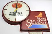 Winston Select Perfectly Aged Tobacco Clock