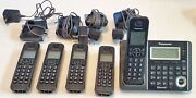 Panasonic Kx-tgf370 Link2cell Bluetooth Cordless Phone Answering Sys, 5 Handsets