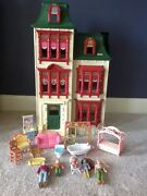 Fisher Price Loving Family Home For The Holidays Dollhouse Furniture Figures