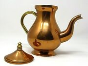 Old Dutch International Odi Copper And Brass Teapot With Lid