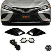 Fits 2018-2020 For Toyota Camry Se Xse Led Fog Lights Lamp W/ Cover And Switch Set