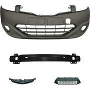 Set Bumper Front Primed Carrier Accessories For Hyundai I30 Year 10-12