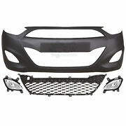 Set Bumper Front Primed Fog Accessories For Hyundai I10 Year 11-13 Facelift
