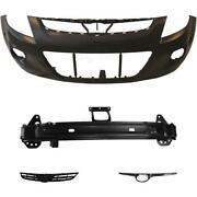 Set Kit Bumper Front Primed+carrier+accessories For Hyundai I20 Year