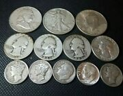 Silver Coin Lot 90 Silver 3 Face Value Mixed Variety Junk Silver 10c 25c 50c