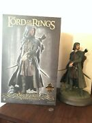 Sideshow Lord Of The Rings Aragorn As Strider Polystone Statue 0/550 Lotr