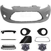 Set Kit Bumper Front For Ford Fiesta 6 Cb1 Year 08-12 + Carrier+accessories+fog