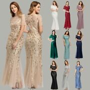 Plus Size Evening Dresses O Neck Short Sleeve Lace Appliques Tulle Party Gown