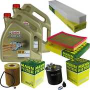 Inspection Kit Filter Castrol 10l Oil 5w30 For Jeep Grand Cherokee Iii Wh 3.0