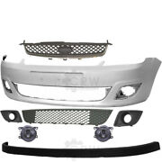 Set Bumper Front Primed Fog+accessories For Ford Fiesta 5 V Jh Jd Year