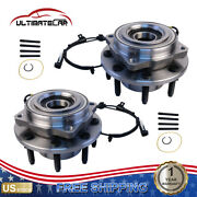 Set 2 Front Wheel Hub Bearing W/ Abs For 2011-2016 Ford F-350 F-250 Super Duty
