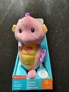 🍊 Fisher Price Pink Soothe And Glow Musical Baby Seahorse Plush Stuffed 10 Works