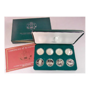 1995-96 Atlanta Olympic Commemorative Silver Dollars Set Proof And Mint State
