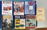 Antique Early Lot Of Automobile Car Magazines Collectors Estate