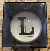 """Monogram """"l"""" Felt Initial Dome Paperweight Black And White New In Box"""