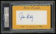 2010 Jim Bibby Psa 10 Historic Autographs In Memory Of Edition 1/1 Nice