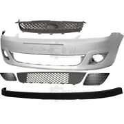 Set Of Bumper Front Primed+accessories For Ford Fiesta 5 V Jh Jd Year