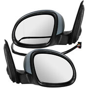 Exterior Mirror Set For Vw Tiguan Year 07-11 Electric 6-pin Heated Convex Turn