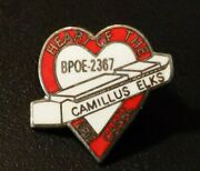 Heart Of The Erie Canal Camilllus Elks Lapel Hat Pin