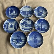 Bing And Grondahl 1941-1948 Christmas Plate Collectible Denmark Porcelain Lot