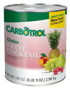 Fruit Carbotrol Fruit Cocktail In Unsweetened Pear Juice 105oz, 6 Case, 10 Can