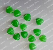 Parrot Jade Calibrated Natural Trillion Cabochon 11mm To 20mm Loose Gemstone