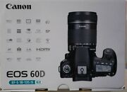 Canon Eos 60d Digital Slr Camera - Black Kit With Ef-s 18-135mm F5-5.6is