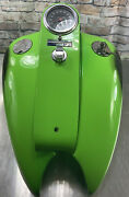 Harley Davidson Stretched Gas Tanks Dual Custom Made And Dash Assembly [q49]