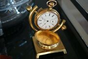Antique Reliance Manual-wind Pocket Watch With Display Stand