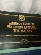 Vtg Willabee Ward Nfl 22kt Gold Super Bowl Tickets Official Various Years