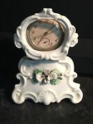 Antique Staffordshire Pocket Watch Holder C. 1860 Floral Flowers Baroque As Is