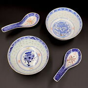 Lot 2 Small Old Japanese Porcelain Marked Bowls W Matching Spoons Not A Set