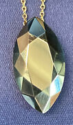 And Co. 18k Gold Diamond Shaped Faceted Pendant Circa 1970and039s Rare