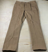 Duluth Trading 38 X 32 Heavy Relaxed Fit Cargo Work Pants Mens Flannel Lined