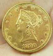 1890p Liberty 10 Gold Eagle -lowest Price On Ebay -nice Looking Coin