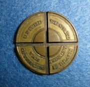 U.s. Civil War Token / Medal United We Stand The Penalty Of Treason Is Death.
