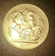 1887 M Victoria Jubilee Head St George Gold Sovereign Coin