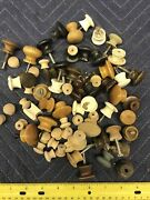 Antique Small Wooden Hardware Drawer Pulls / Knobs - 65+pc Furniture Hardware