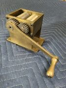 Antique Unique Hand-made Heavy Milled Machined Brass Poppy Seed Grinder Mill
