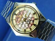 Tressa Lux Crystal Automatic Watch Swiss 1970s Vintage Nos Cal As 5206 Retro
