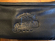 Canyon Outback Black Leather Toiletry Bag Smithwicks Embossed Guinness Harp Beer