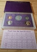 1987-s Us Mint Proof Set In Original Box And Case Bu Uncirculated 5 Coin Set